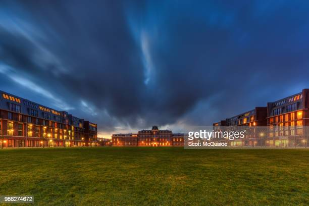 army barracks in haarlem, netherlands. - barracks stock pictures, royalty-free photos & images