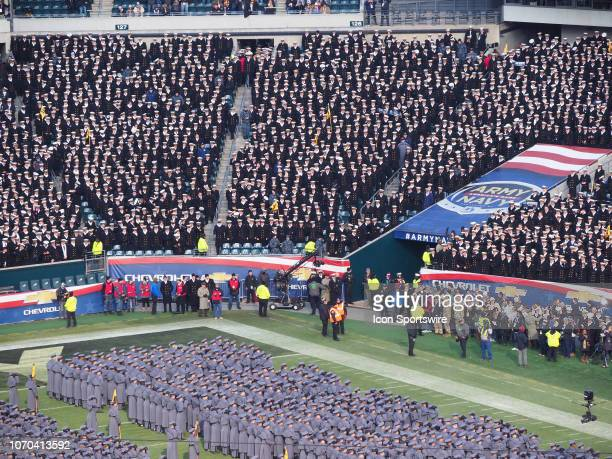 Army Black Knights face off with Navy Midshipmen during the ArmyNavy game on December 8 at Lincoln Financial Field in PhiladelphiaPA