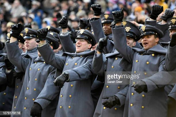 Army Cadets cheer before the game against Navy Midshipmen at Lincoln Financial Field on December 08 2018 in Philadelphia Pennsylvania