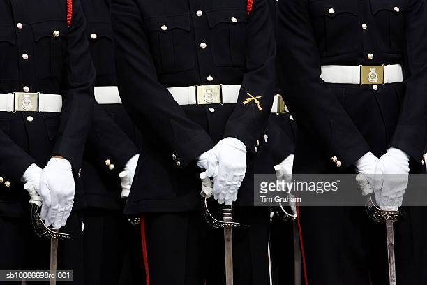 army cadets, sandhurst, surrey, uk - formal glove stock pictures, royalty-free photos & images