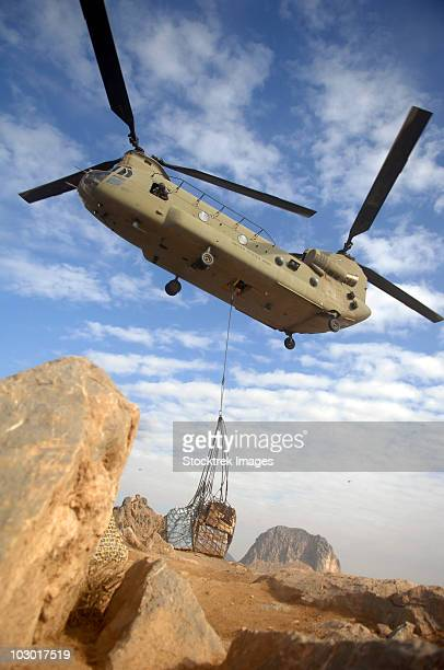 A U.S. Army CH-47 Chinook helicopter