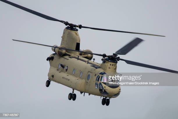a u.s. army ch-47f chinook in ansbach, germany. - ch 47 chinook stock photos and pictures