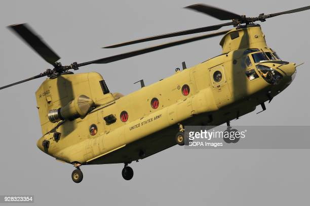 Army CH47F Chinook on finals at Eindhoven