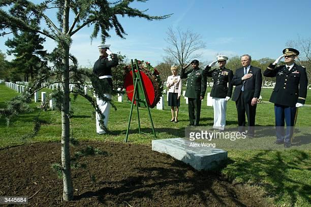 US Army chaplain Kenneth Kerr James Tomsheck of the US Secretary Service US Marine Col Mark Monroe US Army Col Lloyd Holloway and Carmella Laspada...