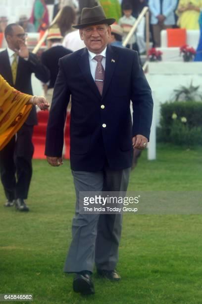 Army Chief Bipin Rawat during Maharaja Jiwaji Rao Scindia Gold Cup 2017 at Jaipur Polo Ground in New Delhi