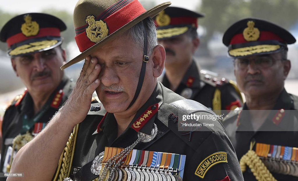 Army Chief Bipin Rawat Pays Tribute To Two Soldiers Killed In Jammu And Kashmir : News Photo