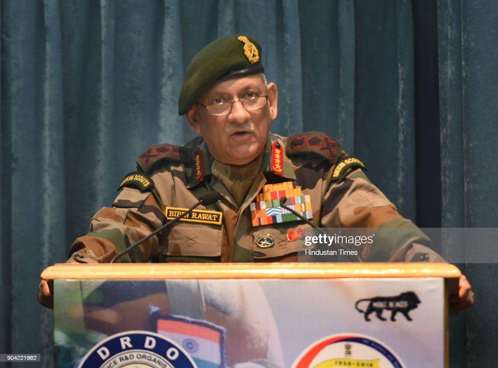 Army Chief General Bipin Rawat At The Inauguration Of DRDO Workshop On CBRN Defence Technologies : News Photo