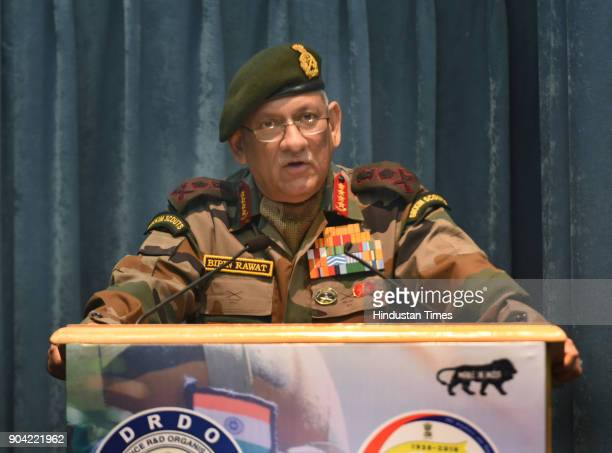 Army chief General Bipin Rawat addressing the DRDO staff during the inauguration of Defence Research and Development Organisation workshop on January...