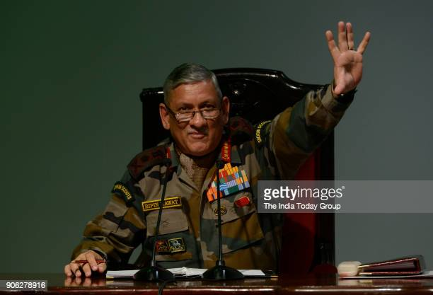 Army chief General Bipin Rawat during a press conference in New Delhi