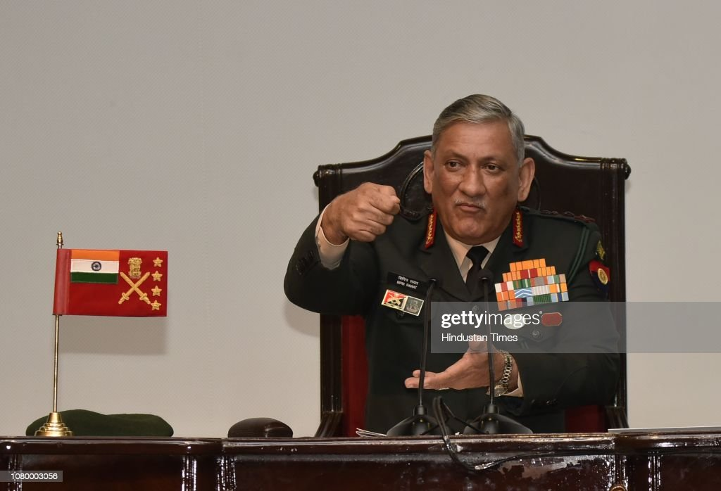 Annual Press Conference Of Army Chief General Bipin Rawat : News Photo