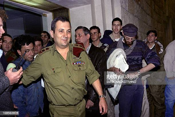 Army chief of staff of the Israeli Defense Forces General Ehud Barak leaves the supreme court on December 17 1992 in Jerusalem where he presented a...