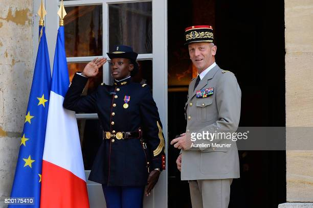 Army Commander in Chief General Francois Lecointre arrives for a meeting with French Prime Minister Edouard Philippe at Hotel Matignon on July 21...