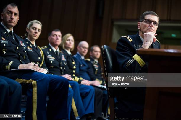 Army Gen Joseph L Votel head of US Central Command testifies during a Senate Armed Services Committee hearing in Hart Building on the US Central...