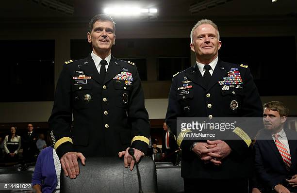 Army Gen. Joseph Votel , nominee to be the next commander of the U.S. Central Command, and U.S Army Lt. Gen. Raymond Thomas III , nominee to be the...