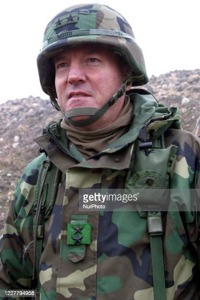 Army General Wood take part in an Joint drill near DMZ at Paju, South Korea, on March 9, 2003.