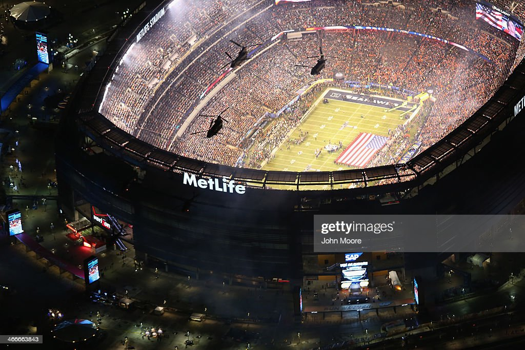 An Aerial View Of Super Bowl XLVIII : ニュース写真
