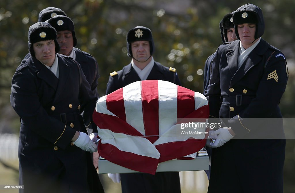 Arlington Nat'l Cemetery Holds Burial Service For Eight Missing Airmen From World War II : News Photo
