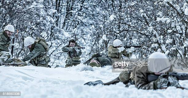 wwii us army infantry combat firefight wounded casualties triage - gunshot wound stock photos and pictures
