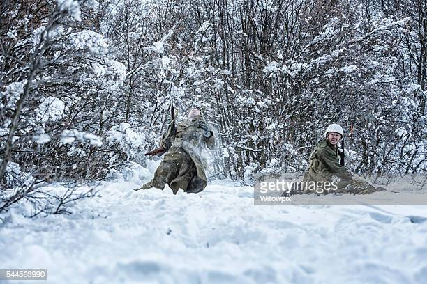 wwii us army infantry combat soldier hit by enemy fire - british veterans stock pictures, royalty-free photos & images
