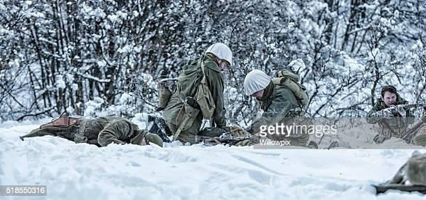 De la Seconde Guerre mondiale, NOUS Armée de terre National Infanterie Lutte contre la morts et de blessés Triage