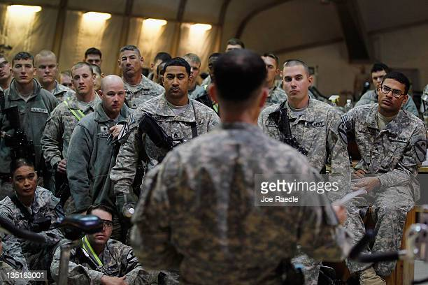 Army Lieutenant Col. Robert Wright from Lampasas, Texas the Commander of the 2-82 Field Artillery, 3rd Brigade, 1st Cavalry Division, gives his...