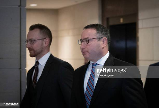 Army Lieutenant Colonel Alexander Vindman Director for European Affairs at the National Security Council arrives to review his deposition transcript...