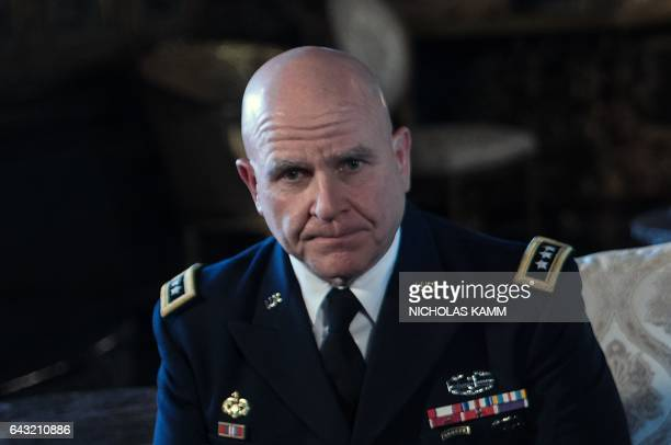 US Army Lieutenant General HR McMaster looks on as US President Donald Trump announces him as his national security adviser at his MaraLago resort in...