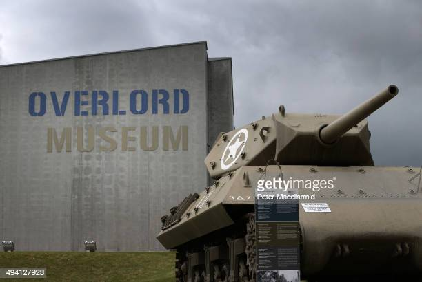 Army M10 Tank Destroyer sits outside the Overlord Museum on May 7, 2014 in Colleville sur Mer, France. The Allied invasion to liberate mainland...