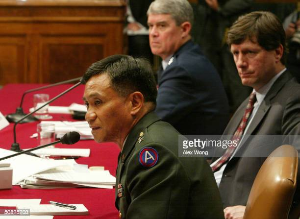 S Army Maj Gen Antonio Taguba author of an Army internal report on abuses at the Abu Ghraib prison near Baghdad testifies as Deputy Commander of the...