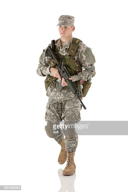 Army man with a rifle