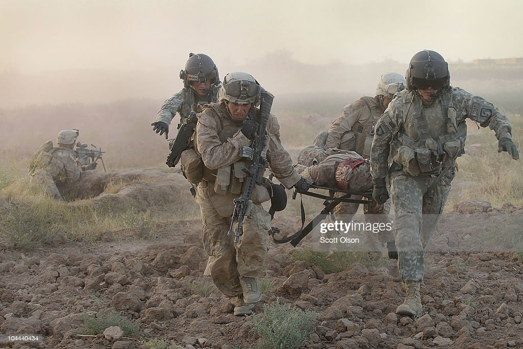Army Medevac Unit Tends To The War Wounded Near Marja, Afghanistan : News Photo