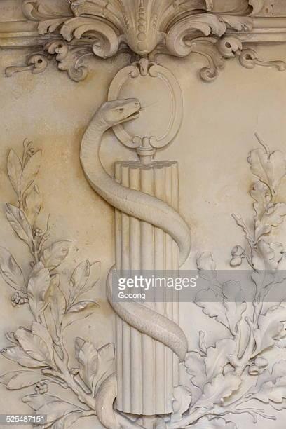 Army Medical Service Museum of the Val de Grâce in Paris Sculpture of a Caduceus Symbol of medicine
