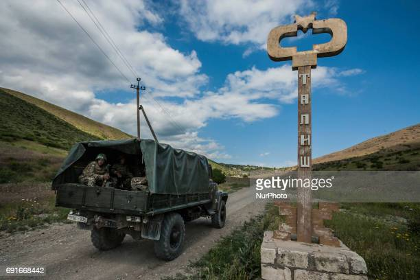 Army of the Nagorno Karabakh Republic enters in Talish village on 2 June 2017 , very close of the frontline with Azerbaijan.