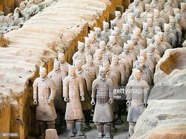 Armée de soldats en terre cuite de l'empereur