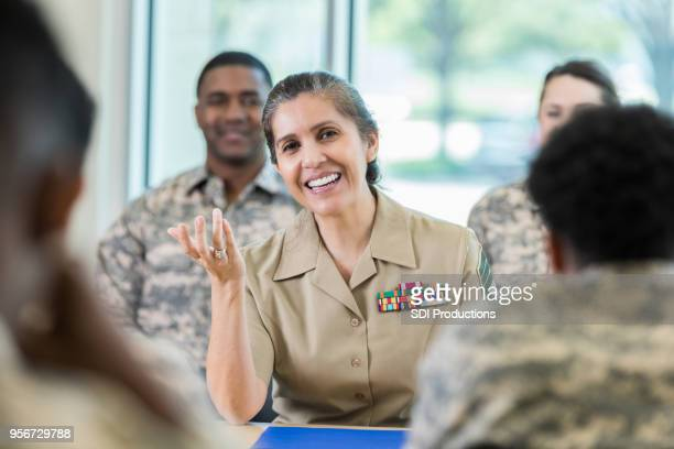 army officer asks question during class - rank stock pictures, royalty-free photos & images