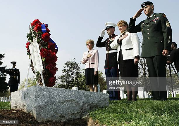 Army Officer Richard Sargent White House Commission on Remembrance Director Carmella LaSpada GY Sgt Christopher Cox of US Marine Corps Secret Service...