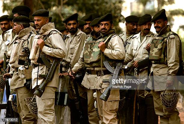 Army Paratroopers deploy early morning near the Presidential Palace November 4 2007 in Islamabad Pakistan Pakistani President Pervez Musharraf...