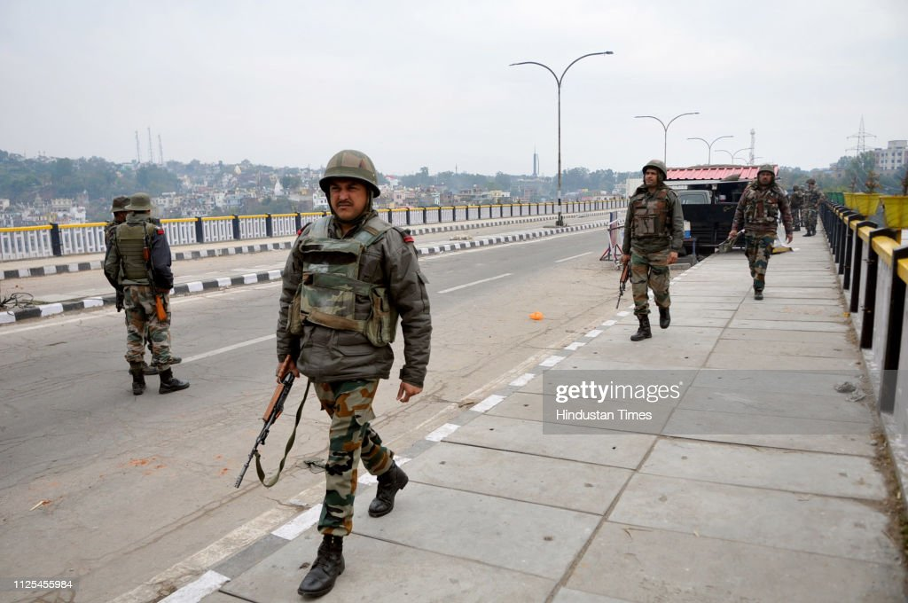IND: Curfew Continues For 3rd Day In Jammu, Army Stages Flag March