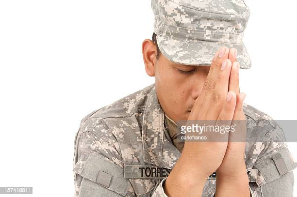 army prayer - military praying stock pictures, royalty-free photos & images