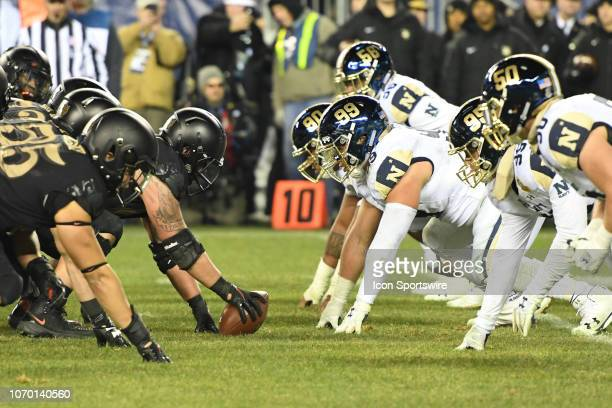Army prepares to snap the ball against Navy during the ArmyNavy game on December 8 at Lincoln Financial Field in PhiladelphiaPA
