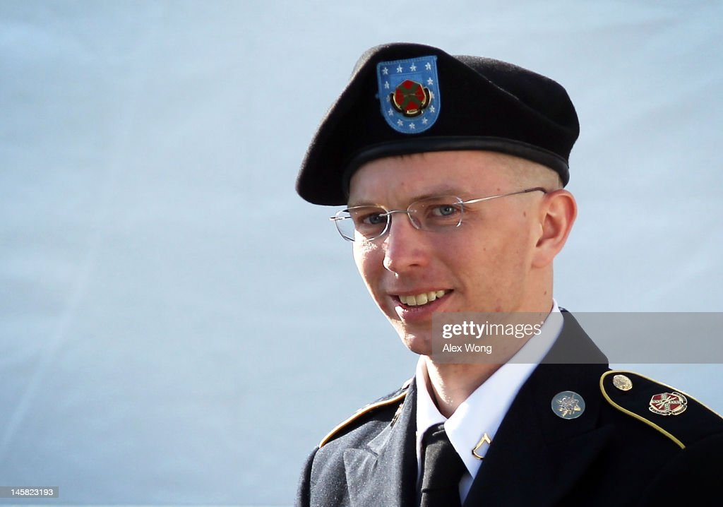 Motion Hearing Held In Bradley Manning Case : News Photo