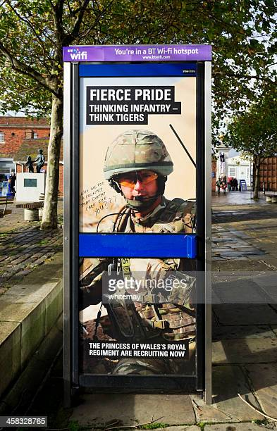 Army recruitment poster with graffiti