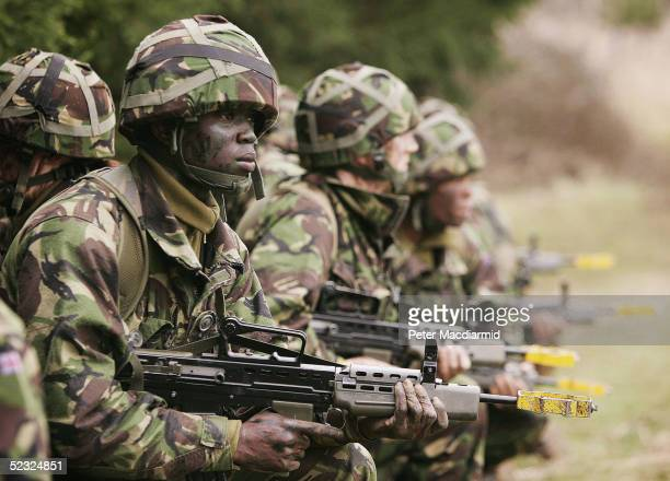 Army recruits go through basic training at the Army Training Regiment on March 9 2005 in Winchester England The House of Commons Defence Select...