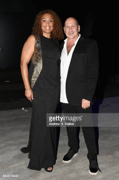 Army Sergeant Letrice Titus and designer Carmen Marc Valvo attend the Salute The Runway fashion show sponsored by Little Black Dress Wines Fatigues...