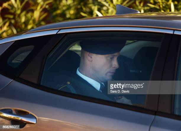 S Army Sgt Robert Bowdrie 'Bowe' Bergdahl 31 of Hailey Idaho is transported from the Ft Bragg military courthouse after the fourth day of his...