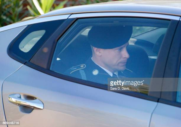 S Army Sgt Robert Bowdrie 'Bowe' Bergdahl is transported from the Ft Bragg military courthouse after the prosecution and defense rested during his...