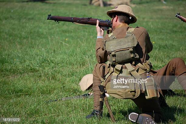 army sniper. - battlefield stock pictures, royalty-free photos & images