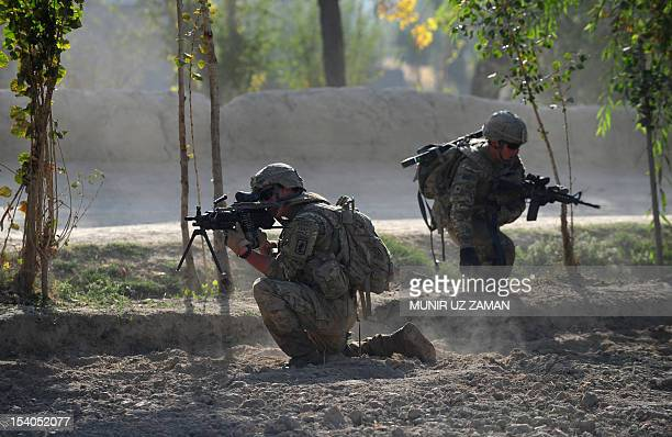 Army soldier attached to 2nd platoon C troop 1st Squadron 91st US Cavalry Regiment 173rd Airborne Brigade Combat Team operating under the NATO...