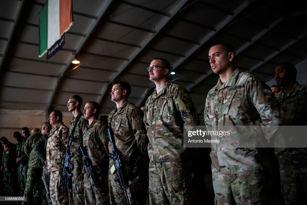 NATO Secretary General Jens Stoltenberg Visits 'Camp Arena' In Afghanistan : Photo d'actualité