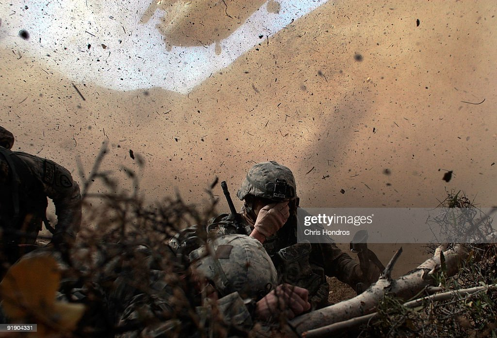 US Army Searches For Militants In Mountains of Afghanistan : News Photo